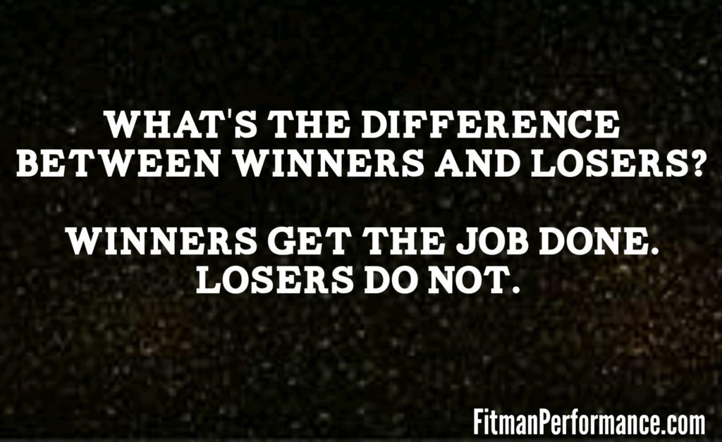 the difference between winners and losers